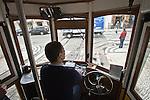 Alte Straßenbahn in Lissabon, Portugal