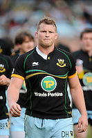 Dylan Hartley of Northampton Saints, the only man selected for the British Lions, during the Aviva Premiership match between Harlequins and Northampton Saints at the Twickenham Stoop on Saturday 4th May 2013 (Photo by Rob Munro)