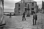 Lerwick Shetland. This was NOT a pedestrian only street or square, there was just very little traffic.