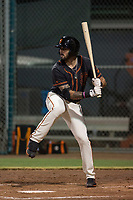 AZL Giants Black designated hitter Frankie Tostado (10) at bat during an Arizona League game against the AZL Athletics at the San Francisco Giants Training Complex on June 19, 2018 in Scottsdale, Arizona. AZL Athletics defeated AZL Giants Black 8-3. (Zachary Lucy/Four Seam Images)