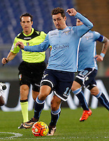 Calcio, Serie A: Lazio vs Juventus. Roma, stadio Olimpico, 4 dicembre 2015.<br /> Lazio's Miroslav Klose in action during the Italian Serie A football match between Lazio and Juventus at Rome's Olympic stadium, 4 December 2015.<br /> UPDATE IMAGES PRESS/Riccardo De Luca