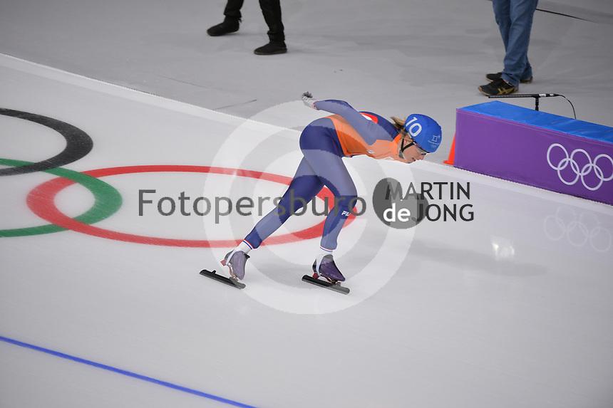 OLYMPIC GAMES: PYEONGCHANG: 24-02-2018, Gangneung Oval, Long Track, Mass Start Ladies, Annouk van der Weijden (NED), ©photo Martin de Jong