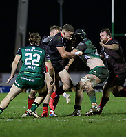 27th December 2020 | Connacht  vs Ulster <br /> <br /> Ben Moxham tackles Eoghan Masterson during the Guinness PRO14 match between Connacht and Ulster at The Sportsground in Galway. Photo by John Dickson/Dicksondigital