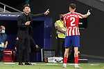 Atletico de Madrid's coach Diego Pablo Cholo Simeone with Jose Maria Gimenez during La Liga match. July 3,2020. (ALTERPHOTOS/Acero)