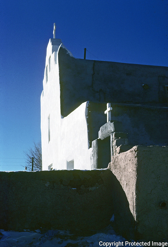 Laguna: Laguna Mission, circa 1700. New Mexico. Photo '77.