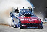 Sept. 23, 2011; Ennis, TX, USA: NHRA funny car driver Bob Tasca III during qualifying for the Fall Nationals at the Texas Motorplex. Mandatory Credit: Mark J. Rebilas-