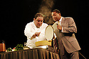 """Celebrity Chef Emeril Lagasse and Jazz trumpeter Wynton Marsalis team up for """"Cookin' with Jazz,'' an educational program for school students in New Orleans, Mon., Aug. 28, 2006. The program was made possible by the Emeril Lagasse Foundation and Rebuild the Soul of America charitable trust..(AP Photo/Cheryl Gerber)."""
