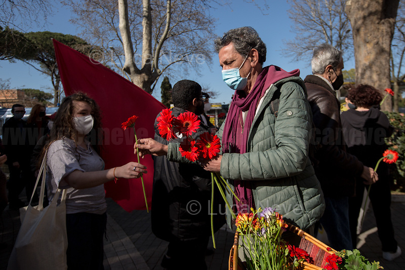 Rome, Italy. 24th Mar, 2021. Today, Citizens of Rome, Antifascists, various organizations, Institutions and the President of the Italian Republic, Sergio Mattarella, pay tribute to the victims of the Fosse Ardeatine massacre in which, 77 years ago, on the 24th March 1944, 335 people were assassinated by the nazi-fascist occupation troupes in Rome. It was one of the most atrocious massacre perpetrated during World War II for retaliation against the Resistance and the Civilians.    <br /> <br /> Footnotes & Links:<br /> (Source, Treccani.it ITA) http://bit.do/fPZXL <br /> (Source, Jewishvirtuallibrary.org ENG) http://bit.do/fPZXu<br /> (Source, Wikipedia.org ENG) http://bit.do/fPZXW <br /> Today's Events: https://www.facebook.com/events/4526526500707783/ & https://www.facebook.com/events/1096587897511737/