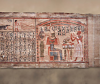 Ancient Egyptian Book of the Dead papyrus  - Scribe of Thebes Necropolis Nebhepet Book of the Dead, 21st Dynasty (1076-943C).Turin Egyptian Museum.