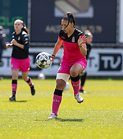 Jessica Silva Valdebenito (18) of Sporting Charleroi pictured during a female soccer game between Eendracht Aalst and Sporting Charleroi on the third matchday of play off 2 of the 2020 - 2021 season of Belgian Scooore Womens Super League , Saturday 24 th of April 2021  in Aalst , Belgium . PHOTO SPORTPIX.BE | SPP | KRISTOF DE MOOR