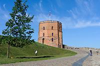Gediminas-Turm in Vilnius, Litauen, Europa, Unesco-Weltkulturerbe