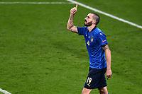 11th July 2021; Wembley Stadium, London, England; 2020 European Football Championships Final England versus Italy; Goal celebrations from Leonardo Bonucci for 1-1 in minute 67