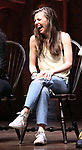 "Eliza Ohman from the 'Hamilton' cast during a Q & A before The Rockefeller Foundation and The Gilder Lehrman Institute of American History sponsored High School student #EduHam matinee performance of ""Hamilton"" at the Richard Rodgers Theatre on June 6, 2018 in New York City."