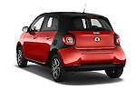 Car pictures of rear three quarter view of a 2015 Smart FORFOUR Prime 5 Door Micro Car Angular Rear