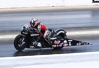 May 16, 2015; Commerce, GA, USA; NHRA pro stock motorcycle rider Angie Smith  during qualifying for the Southern Nationals at Atlanta Dragway. Mandatory Credit: Mark J. Rebilas-USA TODAY Sports