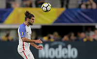 Arlington, TX - Saturday July 22, 2017: Graham Zusi during a 2017 Gold Cup Semifinal match between the men's national teams of the United States (USA) and Costa Rica (CRC) at AT&T stadium.