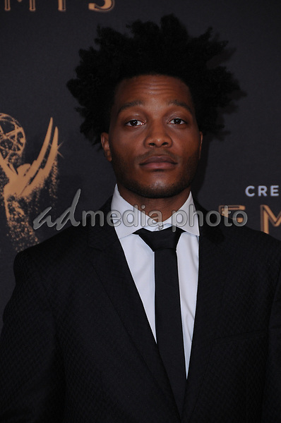 10 September  2017 - Los Angeles, California - Jermaine Fowler. 2017 Creative Arts Emmys - Arrivals held at Microsoft Theatre L.A. Live in Los Angeles. Photo Credit: Birdie Thompson/AdMedia