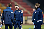 St Johnstone v Aberdeen…27.01.21   McDiarmid Park   SPFL<br />Glenn Middleton pictured warming up with Stevie May and Liam Craig<br />Picture by Graeme Hart.<br />Copyright Perthshire Picture Agency<br />Tel: 01738 623350  Mobile: 07990 594431