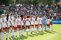 Stanford, Ca. - November 24, 2017: The Stanford Cardinal Women's Soccer Team vs the Penn State Nittany Lions in the quarterfinals of the 2017 NCAA Playoffs. The Stanford Cardinal win 4-0.