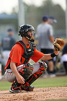 September 26, 2009: Catcher Michael Ohlman of the Baltimore Orioles organization during an instructional league game at Charlotte County Sports Complex in Port Charlotte, FL.  Photo By David Stoner/Four Seam Images