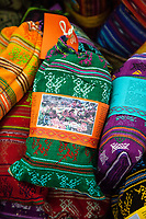Antigua, Guatemala.  Bags of Guatemalan Coffee for Gifts, Nim Po't Handicrafts Outlet.