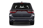 Straight rear view of a 2019 Dodge Durango R/T RWD 5 Door SUV stock images