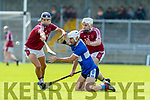 Gavin Dooley and Paul McGrath Causeway in action against David Griffin St Brendans during the Senior Kerry County Hurling Semi Finals between Causeway v Brendans at Austin Stack park on Saturday last.
