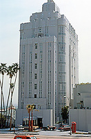 Los Angeles: Sunset Tower, 1929-31. Leland A. Bryant. (Proudly restored, March 1988. Rehab cost $40M. Architect David Lawrence Grey.) Photo '88.
