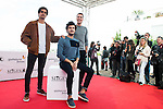 """Alex Maruny, Miki Esparbe and Jorge Suquet pose to the media during the presentation of the film """"Blood Red Carpet"""" at Festival de Cine Fantastico de Sitges in Barcelona. October 13, Spain. 2016. (ALTERPHOTOS/BorjaB.Hojas)"""