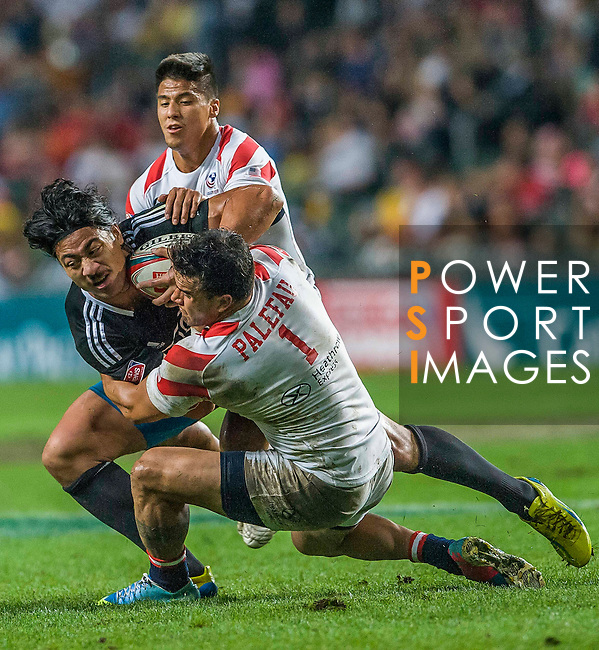 New Zealand vs United States during the Cathay Pacific / HSBC Hong Kong Sevens at the Hong Kong Stadium on 29 March 2014 in Hong Kong, China. Photo by Juan Flor / Power Sport Images