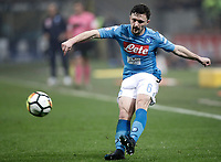 Calcio, Serie A: Inter - Napoli, Milano, stadio Giuseppe Meazza (San Siro), 11 marzo 2018.<br /> Napoli's Mario Rui in action during the Italian Serie A football match between Inter Milan and Napoli at Giuseppe Meazza (San Siro) stadium, March 11, 2018.<br /> UPDATE IMAGES PRESS/Isabella Bonotto
