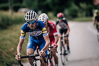 Laurens De Plus (BEL/QuickStep Floors) is 1 of the last riders from the original breakaway group<br /> <br /> Stage 5: Grenoble > Valmorel (130km)<br /> 70th Critérium du Dauphiné 2018 (2.UWT)