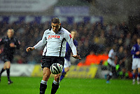 ATTENTION SPORTS PICTURE DESK<br /> Pictured: Gorka Pintado of Swansea City in action <br /> Re: Coca Cola Championship, Swansea City Football Club v Leicester City at the Liberty Stadium, Swansea, south Wales. Saturday 16 January 2010
