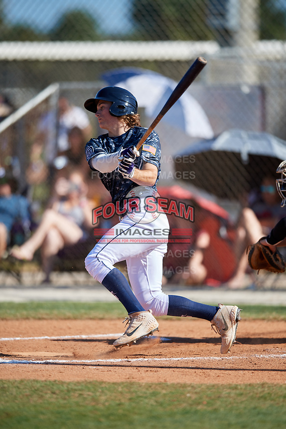 Dylan Crews during the WWBA World Championship at the Roger Dean Complex on October 20, 2018 in Jupiter, Florida.  Dylan Crews is an outfielder from Longwood, Florida who attends Lake Mary High School and is committed to Louisiana State.  (Mike Janes/Four Seam Images)