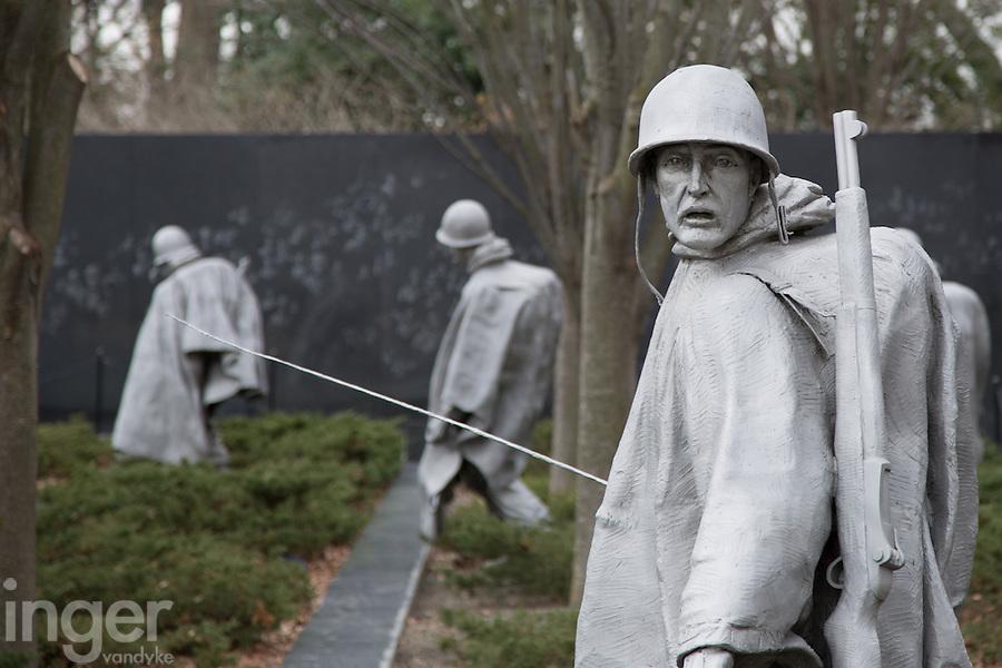 Memorial to the Korean War in Washington DC, USA