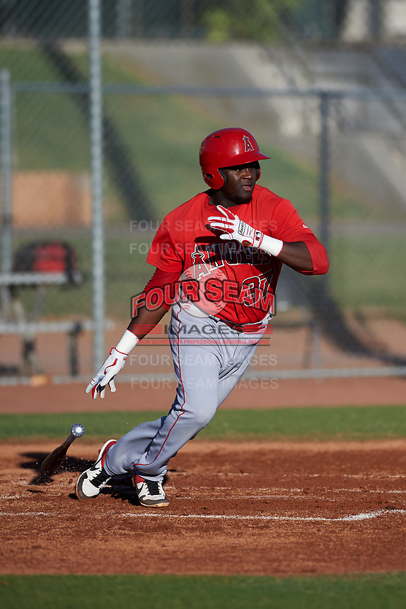 AZL Angels Cristian Gomez (37) at bat during an Arizona League game against the AZL Giants Black at the Giants Baseball Complex on June 21, 2019 in Scottsdale, Arizona. AZL Angels defeated AZL Giants Black 6-3. (Zachary Lucy/Four Seam Images)