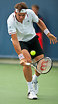 Milos Raonic of Canada at the Western & Southern Open in Mason, OH on August 16, 2012.