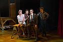 London, UK. 10.10.2014. Mountview Academy of Theatre Arts presents CURTAINS, at the Bernie Grant Arts Centre. Picture shows:  Melissa Potts (NIKI HARRIS), Scott Hunter, James Hinton (LIETENANT FRANK CIOFFI). Photograph © Jane Hobson.