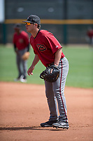 Arizona Diamondbacks first baseman Ryan Tufts (41) during an Extended Spring Training game against the Cleveland Indians at the Cleveland Indians Training Complex on May 27, 2018 in Goodyear, Arizona. (Zachary Lucy/Four Seam Images)