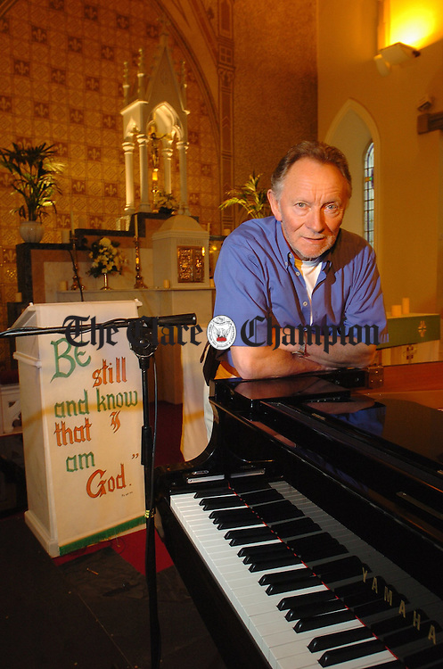 Musician Phil Coulter in Scariff church before his performance as part of the Scarriff Harbour Festival. Photograph by John Kelly.