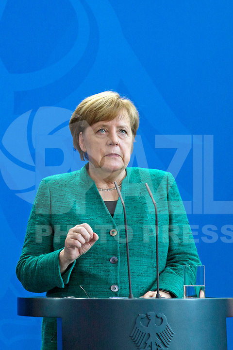 Pressekonferenz von Bundeskanzlerin Angela Merkel am 16. Februar 2018 im Bundeskanzleramt Berlin. | Press Conference by the German Chancellor Angela Merkel on 16 February 2018 at the Federal Chancellery in Berlin.<br /> Credit: A.v.Stocki/face to face