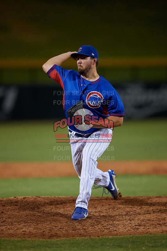 AZL Cubs 2 relief pitcher John Pomeroy (50) during an Arizona League game against the AZL Dbacks on June 25, 2019 at Sloan Park in Mesa, Arizona. AZL Cubs 2 defeated the AZL Dbacks 4-0. (Zachary Lucy/Four Seam Images)