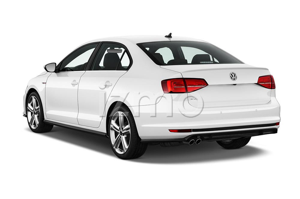 Car pictures of rear three quarter view of 2017 Volkswagen Jetta GLI 4 Door Sedan Angular Rear