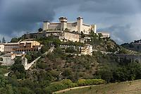 Italien, Umbrien, Burg Rocca Albornoziana in Spoleto