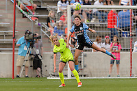 Chicago, IL - Sunday Sept. 04, 2016: Beverly Yanez, Arin Gilliland during a regular season National Women's Soccer League (NWSL) match between the Chicago Red Stars and Seattle Reign FC at Toyota Park.