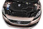 High angle engine detail of a  2013 Volvo V40 Cross Country Summum Hatchback