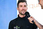 Bernhard Eisel (AUT) Team Dimension Data at sign on before the start of Stage 3 of the 2018 Artic Race of Norway, running 194km from Honningsvg to Hammerfest, Norway. 18th August 2018. <br /> <br /> Picture: ASO/Pauline Ballet | Cyclefile<br /> All photos usage must carry mandatory copyright credit (© Cyclefile | ASO/Pauline Ballet)