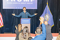 Donald Trump, Jr., the son of US president Donald Trump, speaks at a 'Make America Great Again!' campaign rally at DoubleTree by Hilton MHT in Manchester, New Hampshire, on Thu., Oct. 29, 2020. The event took place five days before the Nov. 3 presidential election.