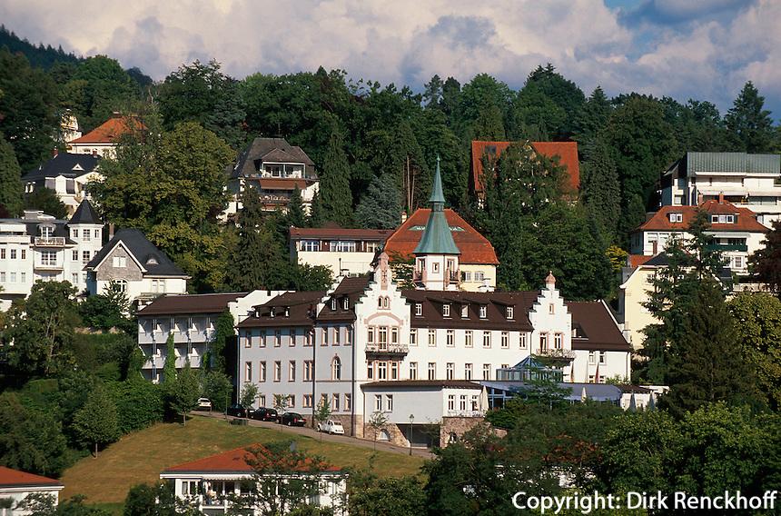 Blick vom Neuen Schloss in Baden-Baden, Baden-Württemberg Deutschland,
