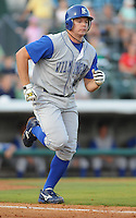 July 7, 2008: Infielder Brad Correll (18) of the Wilmington Blue Rocks, Class A affiliate of the Kansas City Royals, in a game against the Myrtle Beach Pelicans at BB&T Coastal Field in Myrtle Beach, S.C. Photo by:  Tom Priddy/Four Seam Image